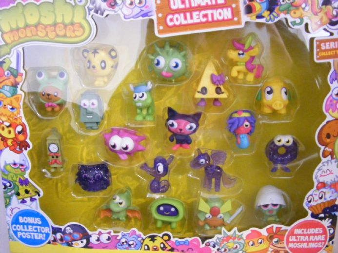 BN MOSHI MONSTERS ULTIMATE FIGURES COLLECTION SERIES 1 INC ULTRA RARE MOSHLINGS (2a)